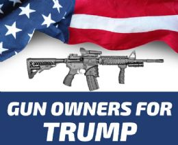 120 Units of Trump 2024 Gun Owners For Trump Bumper Stickers - Stickers