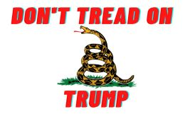 120 Units of Don't Tread On Trump Bumper Sticker - Stickers
