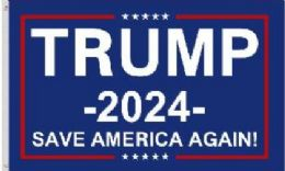 12 Units of Trump 2024 Save America Again Flags - Signs & Flags