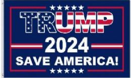 12 Units of Trump 2024 Save America Flag - Signs & Flags