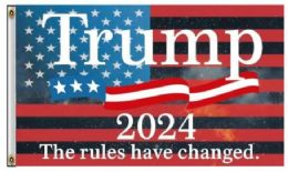 12 Units of Trump 2024 The Rules Have Changed Flags - Signs & Flags