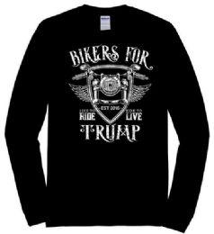 6 Units of BIKERS FOR TRUMP Long Sleeve Tshirt PLUS Size - Mens T-Shirts