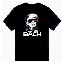 12 Units of Trump 2024 T-Shirt I'll Be Back Black Shirts - Mens T-Shirts