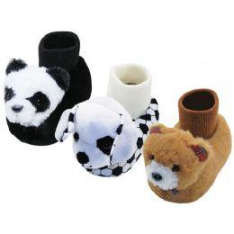 36 Units of Children Novelties Animals Head Slippers - Girls Slippers