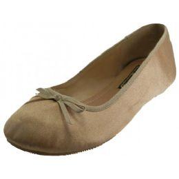 18 Units of Women's Satin Ballet Flat Shoes In Gold - Women's Flats