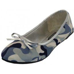 18 Units of Women's Camouflage Ballet Flat In Gray - Women's Flats