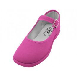 36 Units of Women's Cotton Upper Mary Janes Shoe Fuchsia Color - Women's Sneakers