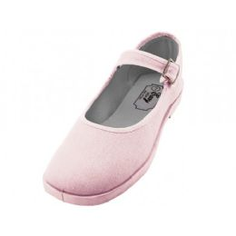 36 Units of Women's Cotton Upper Mary Janes Shoe Pink Color - Women's Sneakers