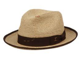 2 Units of MORRETON VINTAGE RAFFIA STRAW FEDORA HAT - Fedoras, Driver Caps & Visor