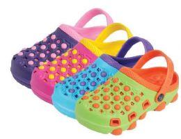 36 Units of Girls Slipper Garden Shoes - Girls Sandals