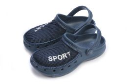 36 Units of Boys Sport Clogs In Assorted Colors And Sizes - Boys Flip Flops & Sandals