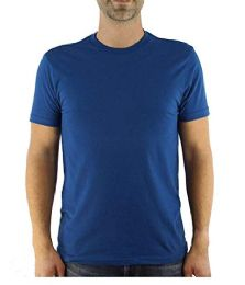 12 Units of Yacht & Smith Mens Cotton Crew Neck Short Sleeve T-Shirts, Royal Blue, 3X Large - Mens T-Shirts