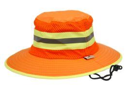 12 Units of Outdoor Camping Mesh Crown Bucket Hat - Bucket Hats