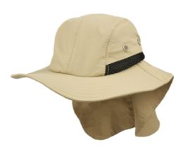 12 Units of Outdoor Fishing Camping Cap W/neck Flap Cover - Camping Gear
