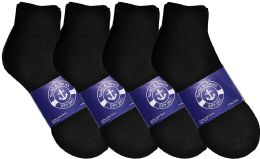12 Units of Yacht & Smith Womens Lightweight Cotton Sport Black Ankle Socks, Sock Size 9-11 - Womens Ankle Sock