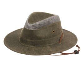 12 Units of OUTDOOR SAFARI HATS W/PARTIAL MESH CROWN - Fedoras, Driver Caps & Visor