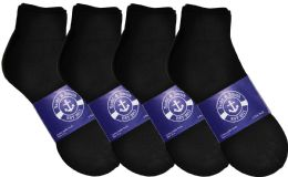 12 Units of Yacht & Smith Mens Lightweight Cotton Sport Black Quarter Ankle Socks, Sock Size 10-13 - Mens Ankle Sock
