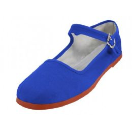 36 Units of Women's Canvas Classic Mary Janes Royal Blue - Women's Flats