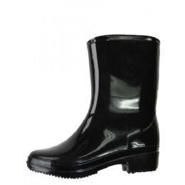 18 Units of Women's Mid Height Rain Boots In Black - Women's Boots