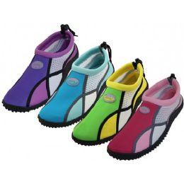 36 Units of Women's Wave Multi Color Water Shoes - Women's Aqua Socks