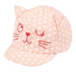 24 Units of Kids Cotton Cat Cap - Kids Baseball Caps