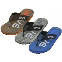 36 Units of Men's Wave Super Soft Thong Sandals - Men's Flip Flops and Sandals