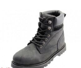 12 Units of Men's Himalayans 6 Inches Insulated Black Nubuck Leather Upper With Steel Toe Work Boots - Men's Work Boots