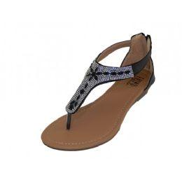 18 Units of Girls Rhinestone Upper Sandal - Girls Sandals