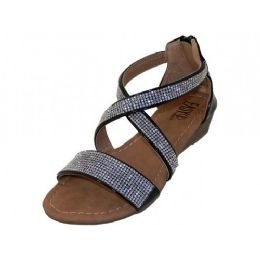 18 Units of Girls Easy Usa Rhinestone Upper Sandals - Girls Sandals