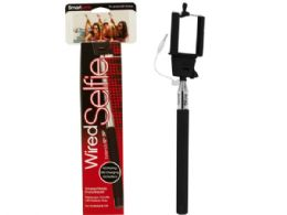 96 Units of Black Wired Selfie Portrait Stick - Cell Phone Accessories