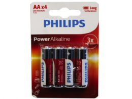 36 Units of Philips Power Alkaline 4 Pack Aa Battery - Electronics