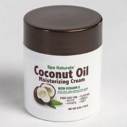 12 Units of Coconut Oil Moisturizing Cream With Vitamin E 6 Oz Jar - Bath & Body