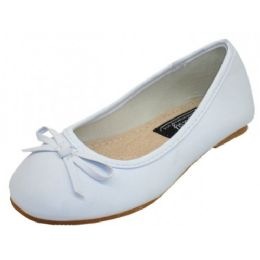 18 Units of Girls Comfortable Ballet Flat In White - Girls Shoes