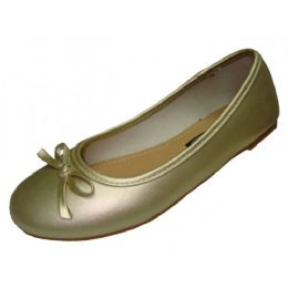 18 Units of Girls Comfortable Ballet Flat In Gold - Girls Shoes