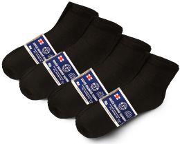 240 Units of Yacht & Smith Mens Cotton Diabetic NoN-Binding Ankle Socks Size 10-13 Black - Men's Diabetic Socks