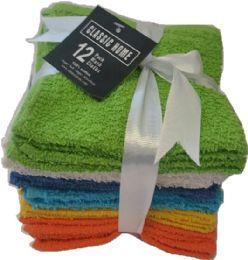 36 Units of Wash Cloth 12pack - Towels