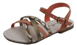 18 Units of Kid's Fashion Sandals In Coral - Girls Sandals