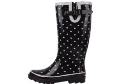 12 Units of Ladies' Rubber Rain Boots 13 Inches Tall - Women's Boots