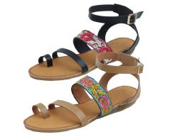 12 Units of Ladies Fashion Sandals In Camel - Women's Sandals