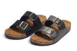 24 Units of Ladies' Fashion Sandals In Black - Women's Sandals