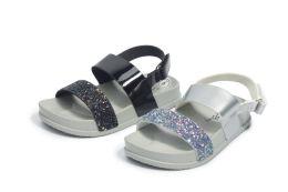12 Units of Little Kid's Sandals In Black - Girls Sandals