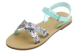 12 Units of Girl's Fashion Sandals In Mint - Girls Sandals