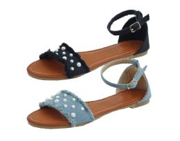 12 Units of Ladies Fashion Sandals In Silver - Women's Sandals