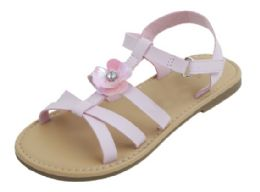 """12 Units of Girl""""s Fashion Sandals In Pink - Girls Sandals"""