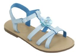 """12 Units of Girl""""s Fashion Sandals In Blue - Girls Sandals"""