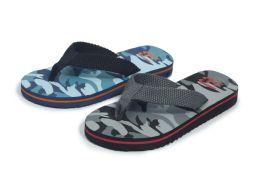 48 Units of Boys Fashion Sandals Camo - Boys Flip Flops & Sandals