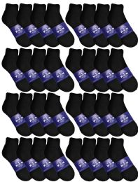 120 Units of Yacht & Smith Womens Lightweight Cotton Sport Black Quarter Ankle Socks, Sock Size 9-11 - Womens Ankle Sock