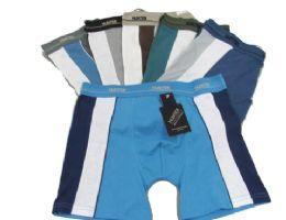 48 Units of Men's Cotton Boxer Briefs W/ Stripe - Mens Underwear