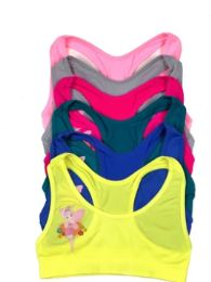 48 Units of Girl's Seamless Racer Back Top - Girls Underwear and Pajamas