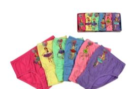 72 Units of Girls Cotton Panty - Girls Underwear and Pajamas